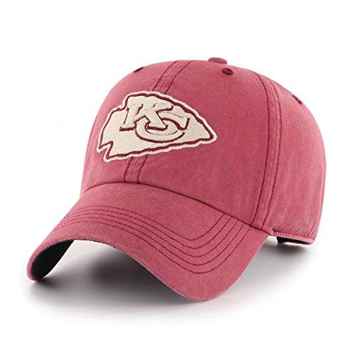 NFL Kansas City Chiefs Deck Hand OTS Challenger Adjustable Hat, Red, One Size