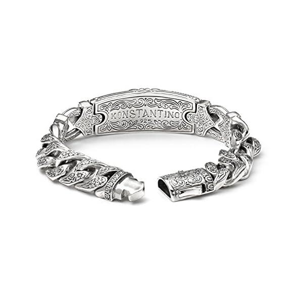 Konstantino-Mens-Silver-and-Bronze-Bracelet