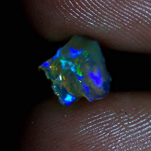 dadu_creation 01.15Cts. 100% Amazing Ultra Rare Blue Flashing Ethiopian Opal Rough dtho87