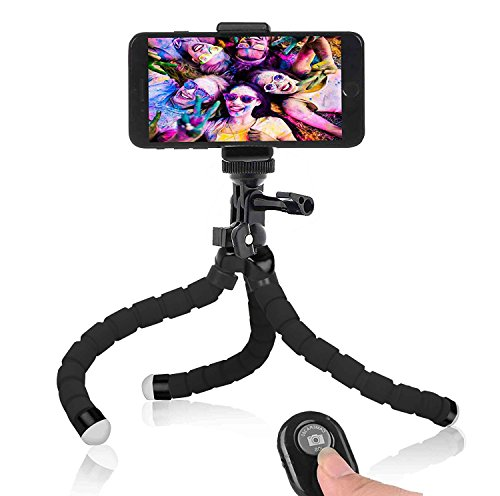 Phone Tripod, AIKEN flexible cell phone Tripod with Remote for All Iphone& Android Phone, Camera,DSLR, and Gopro [Upgraded Full Metal Framework] from AIKEN HOME