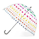 Totes Kid's Clear Bubble Umbrella with Easy Grip Handle, Dots: more info