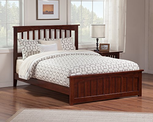 Atlantic Furniture Mission Bed with Matching Foot