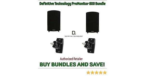 Amazon Definitive Technology ProMonitor 800 Bookshelf Speakers Pair Black Pro Mount 90