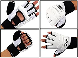Wonzone Half Finger Taekwondo Training Boxing Gloves Taekwondo//Muay Thai Training//Punching Bag Gym Half Mitts Sparring Gloves