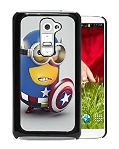 For LG G2,Minion Captain America Black Protective Case For LG G2