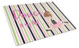 Caroline's Treasures Ballet Dance Is My Life Brunette Glass Cutting Board Large, Multicolor