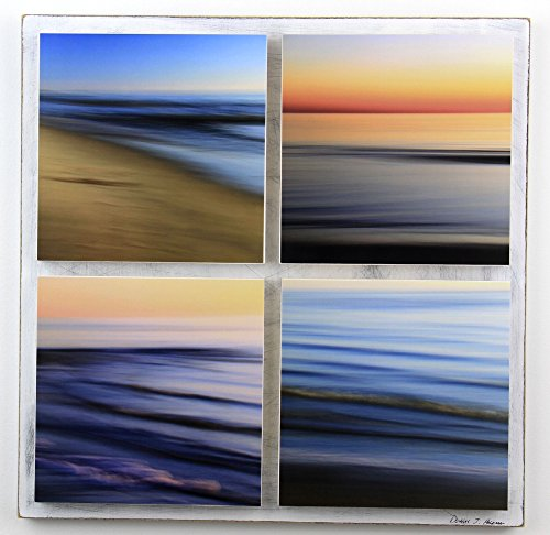 Water Abstracts 4 Piece Panel, Seascapes by