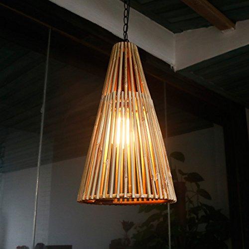 Haoaijia Pendant Light Natural Bamboo Wall Lamp Cafe Bar Bar Study Room Restaurant Villa Farm Inn Aisle Bamboo ()