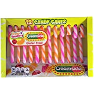 Orange and Raspberry Creamsicle Christmas Candy Cane, Pack of 12, 5.29 oz