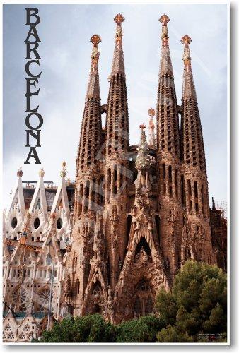 Barcelona Spain - La Familia Sagrada - NEW World Travel Poster