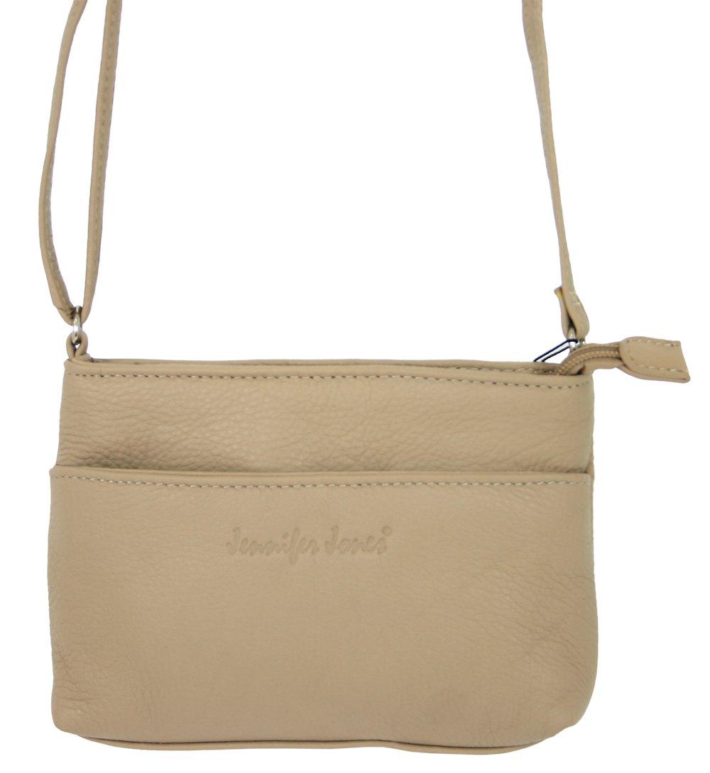 a9e46ec0b92bd9 Schultertaschen 6224 Kleine Abendtasche für Frauen aus Leder/Damen  crossover Schultertasche beige Umhängetasche Crossbody Bag