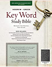 The Hebrew-Greek Key Word Study Bible: NASB-77 Edition, Black Genuine