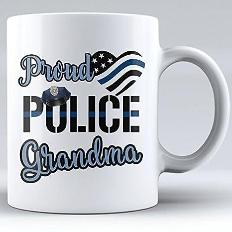 Amazon.com: Orgullosos Policía abuela – abuela regalo taza ...