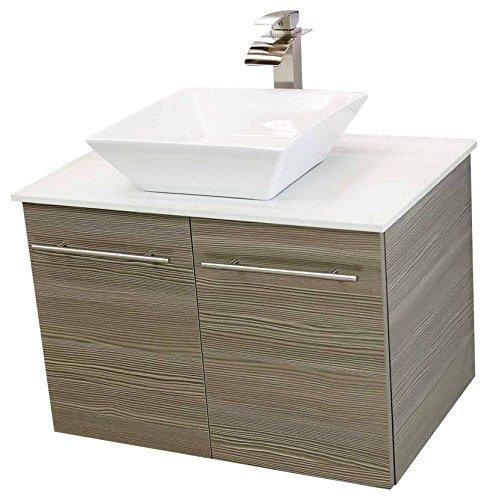 "WindBay 36"" wall mount floating bathroom vanity sink set. Va"