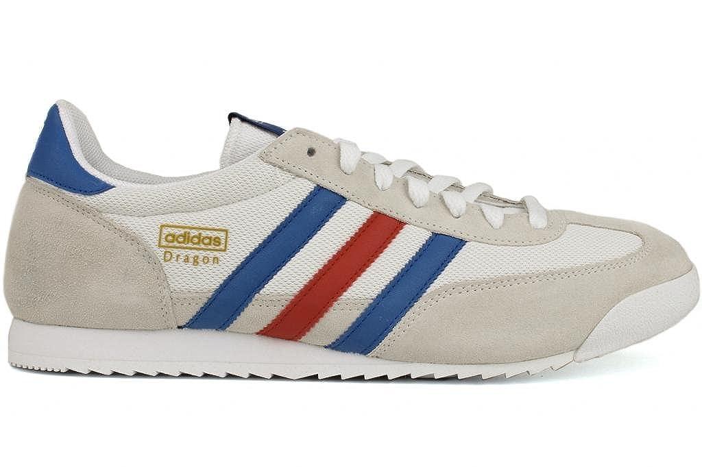 Adidas Dragon Sneaker,White/Collegiate Royal/Collegiate Red,Men's ...