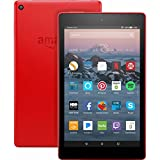 "Fire HD 8 Tablet with Alexa, 8"" HD Display, 32 GB, Punch Red - with Special Offers (Previous Generation – 7th)"