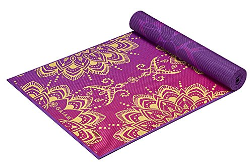 Gaiam Print Premium Reversible Yoga Mat, Royal Bouquet, 68″ x 24″ x 6mm