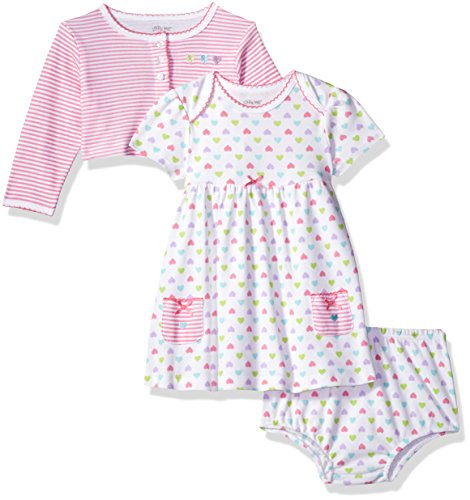 Little Me Baby Girls Dress with Cardigan