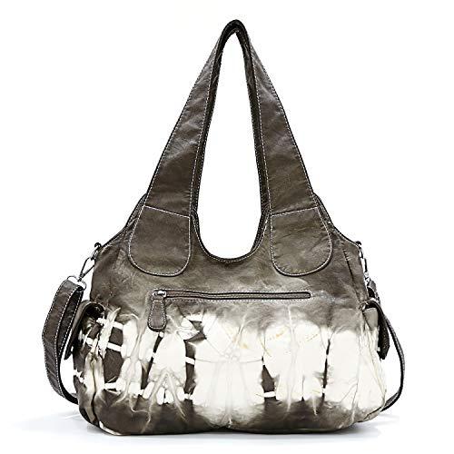 Tote Bag Roomy Fashion for PU Hobo Satchel Handbag Multiple Women Bag Shoulder Pockets Street Bag Xs160191z Khaki ladies' Women Czn7xqtv