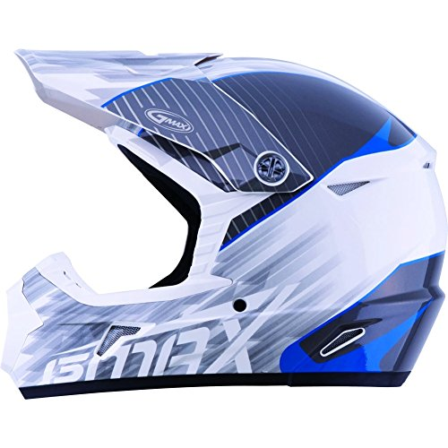 (GMAX MX-46Y Colfax Youth Off-Road Motorcycle Helmet - White/Blue /)