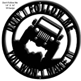 jeep garage - Jeep Laser Silhouette Cut Out Sign 14x14