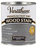deck stain colors Varathane 269394 Premium Fast Dry Wood Stain, 32 oz, Weathered Gray