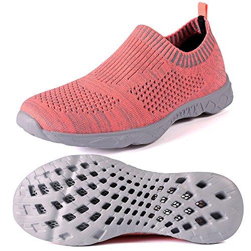 Mxson Frauen Slip On Sneaker Mesh Casual Sport Walking Strand Aqua Schwimmbad Wasser Schuhe Pfirsich