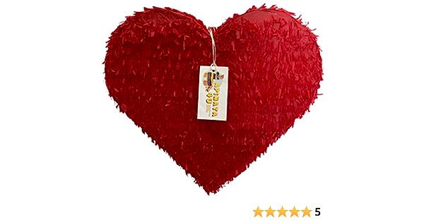 """Valentine/'s Day Mini Red Heart Pinata Celebrate It 6"""" X 5.5"""" New ❤️"""