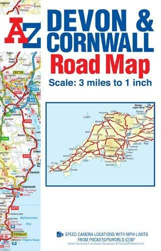 Devon & Cornwall Road Map (A-Z Road Map): Amazon.de: Geographers ...