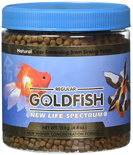 New Life Spectrum 62030 Goldfish Sinking Food, 3mm/125 g