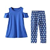 Chinatera Mommy and Me Clothes Set 2pcs Family Matching Outfits Daughter Mom Tops Star Pants (Daughter)