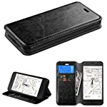 Amazon Fire Phone Black Leather Magnetic Cover Wallet Id Credit Card Case Cell Phone Shield Protector Shell + Free Car Charger from [Accessory Library]