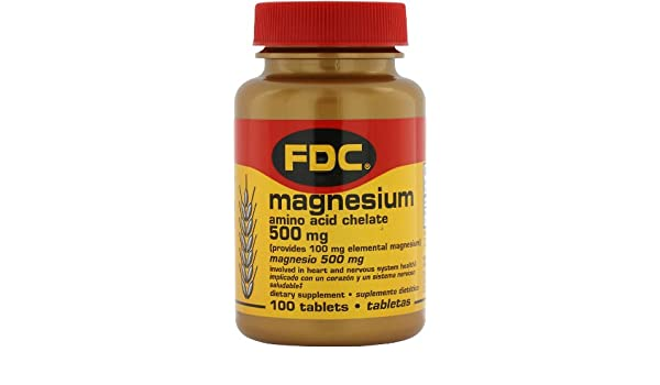 Amazon.com: FDC Magnesium 500mg Amino Acid Chelate: Health & Personal Care