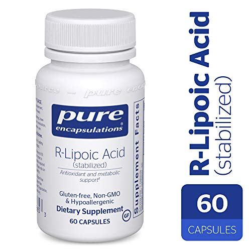 Pure Encapsulations - R-Lipoic Acid (Stabilized) - Hypoallergenic Supplement with Enhanced Antioxidant Protection and Metabolic Support* - 60 Capsules