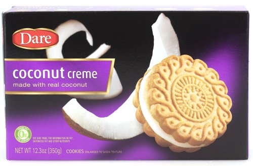 Dare Foods Coconut Creme Cookies 3 /10.2 Ounce Boxes (Cream Sandwich)