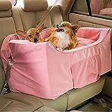 Snoozer Large Luxury Lookout II Pet Car Seat, Pink/Pink Microsuede