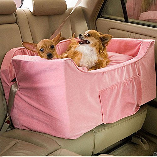 Snoozer Large Luxury Lookout II Pet Car Seat, Pink/Pink Microsuede by Snoozer