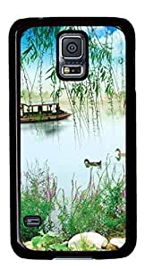 Animals and People Get Along DIY Hard Shell Black Best Designed Samsung Galaxy S5 I9600 Case