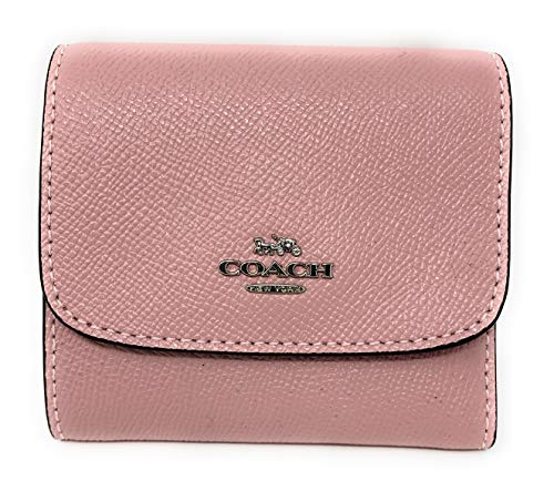 Coach Small Wallet in Crossgrain Leather F87588 (SV/CARNATION)