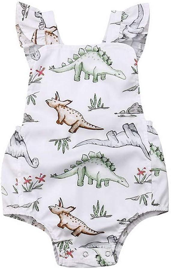 Bone Cute Newborn Toddler Infant Baby Girls Deer Ruffles Romper Jumpsuit Clothes Outfits B