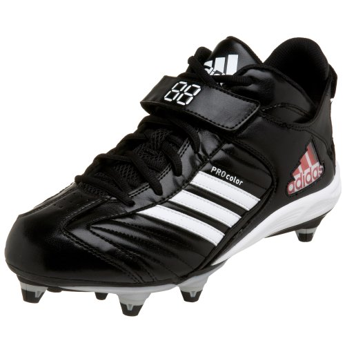adidas Men's Pro Color 2 D Mid Football Cleat Black/White/Silver outlet extremely zEtduXY