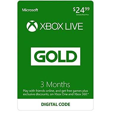 Xbox Live 3 Month Gold Membership - Digital Code