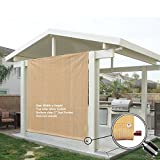 Alion Home Rod Pocket Sun Shade Panel with Aluminum Eyelets for Patio, Awning, Window Cover, Instant Canopy Side Wall, Pergola Or RV (10' x 8', Banha Beige)