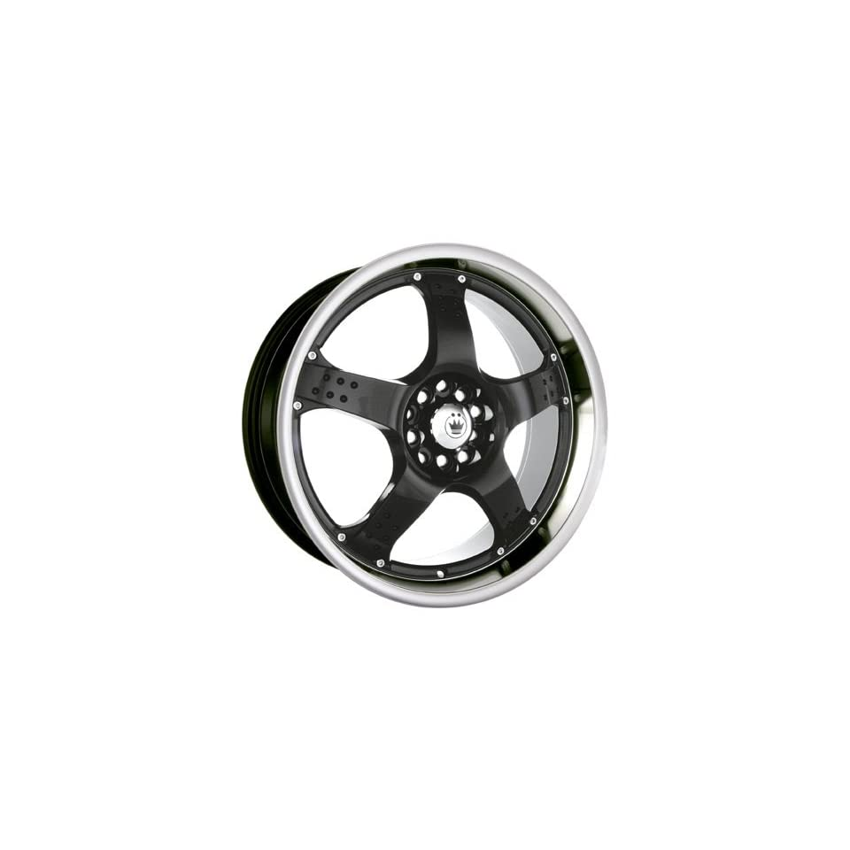 18x7.5 Konig Freefall (Gloss Black w/ Machined Lip) Wheels/Rims 4x100/114.3 (FF78D04455)