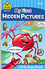 """Find our complete line of educational resources at Amazon.com/SchoolZonePublishing. BOOK FEATURES 48 hidden picture pages  For ages 4-6 5.313"""" x 8.5"""" pages with sturdy backing that creates a writing surface   Each page features a challenging,..."""