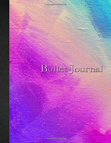 Bullet Journal: 8.5 x 11 - 160 pages - Watercolor Colorful - Rainbow Colors - Notebook Dotted Grid - soft cover glossy finish - journal, planner, organizer, dot point, sketch, calligraphy