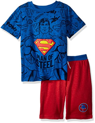Warner Brothers Toddler Boys' Superman Crew Neck Short