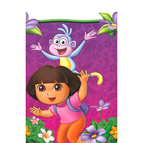 Nickelodeon American Greetings Dora The Explorer Plastic Table Cover Party Supplies, 54 x 96