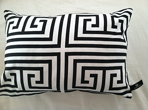 Black and White Modern 14x20 Inch Pillowcase by Newport (Newport Pillow Covers)
