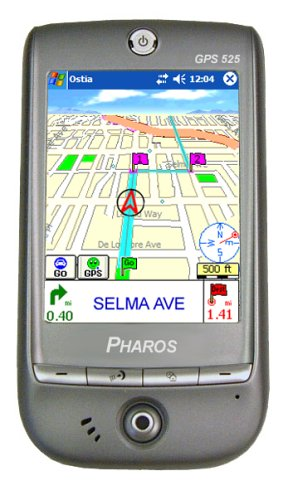 (Pharos Traveler 525 2.27-Inches Bluetooth Portable GPS Navigator)